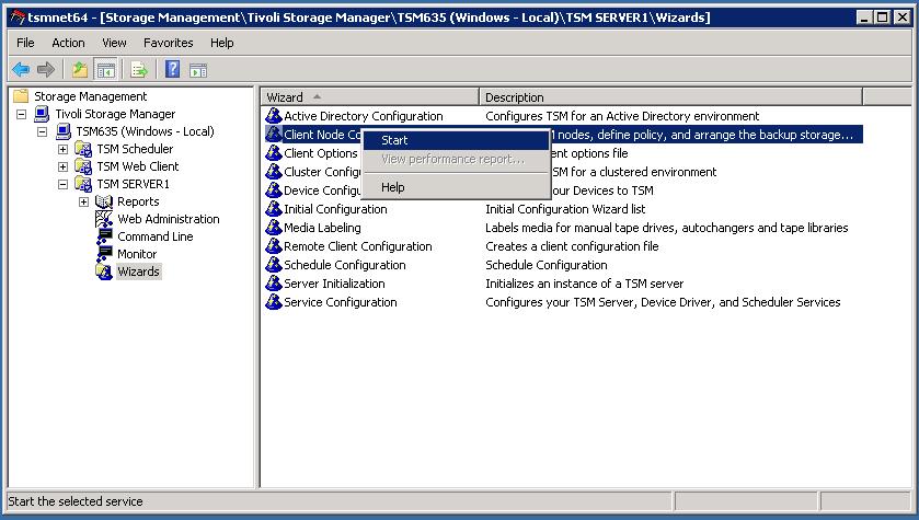 TSM Client Configuration