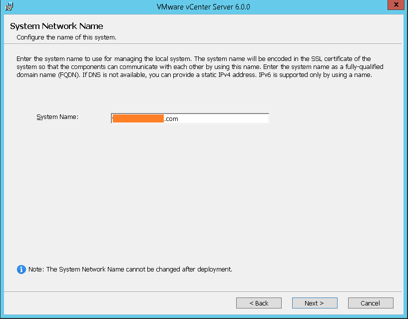 domalab.com VMware vCenter Deploy system network name