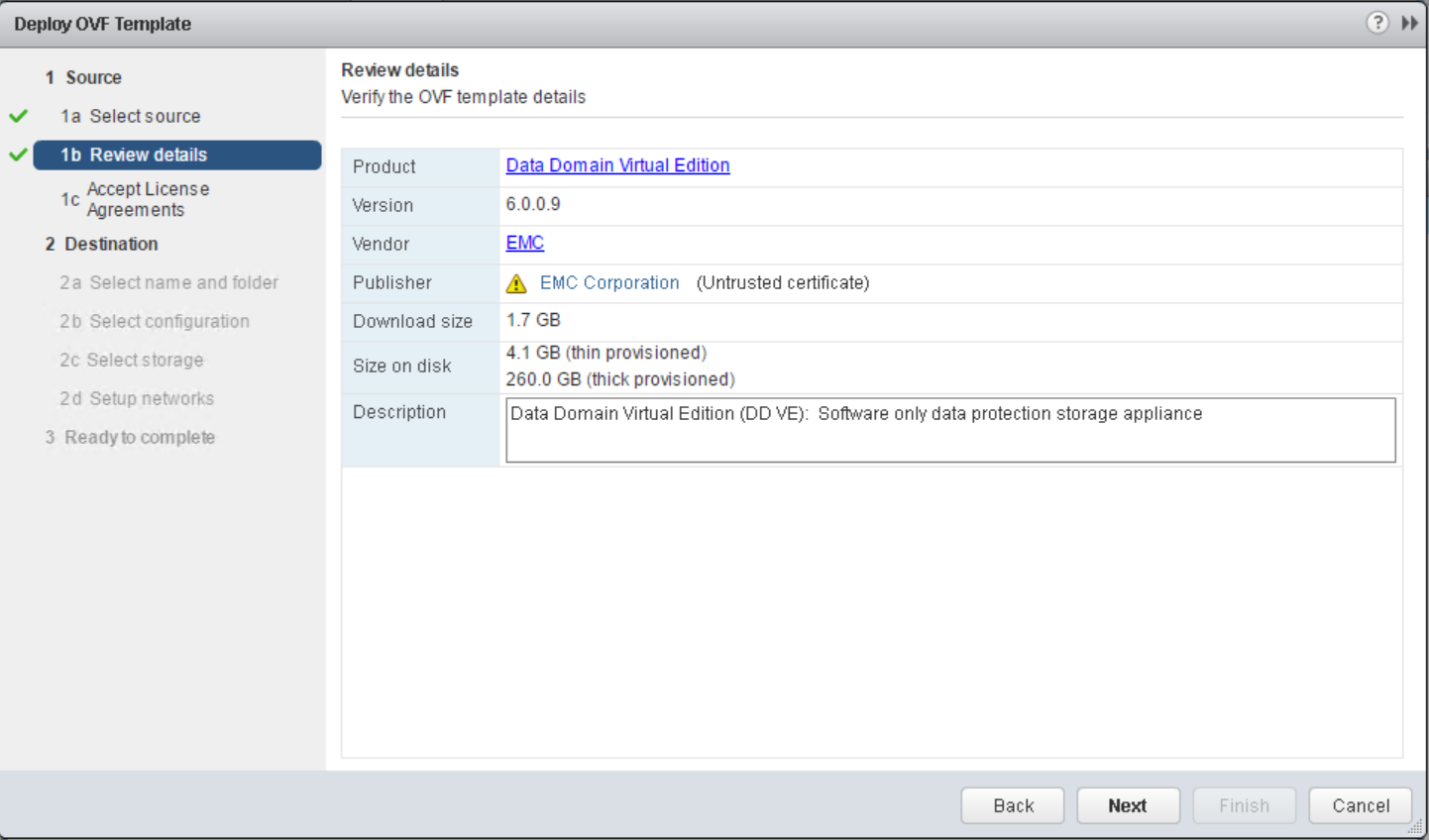 Data Domain Virtual Edition install and configuration overview