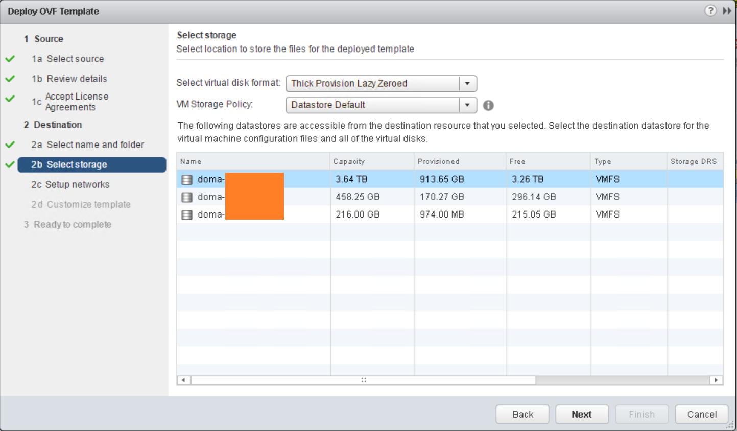 domalab.com VMware VDP install ovf storage