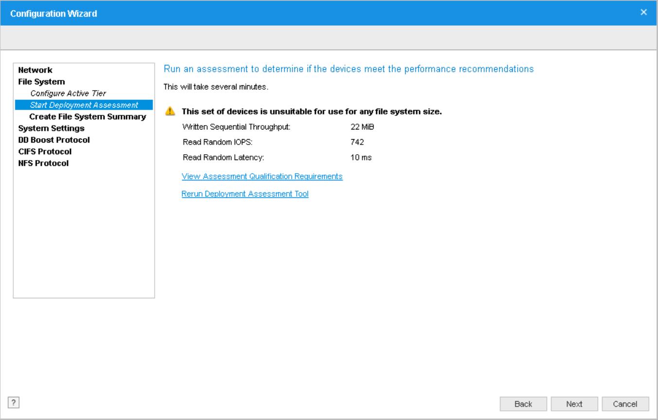 domalab.com Data Domain VE install assessment result