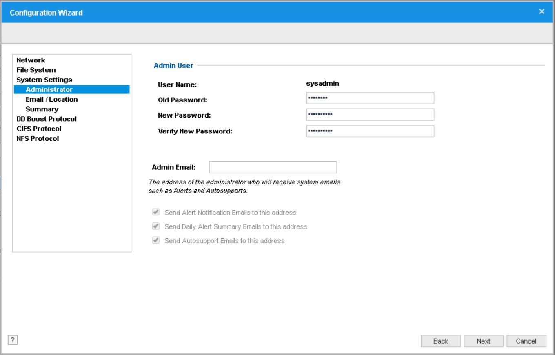 domalab.com Data Domain VE install sysadmin settings