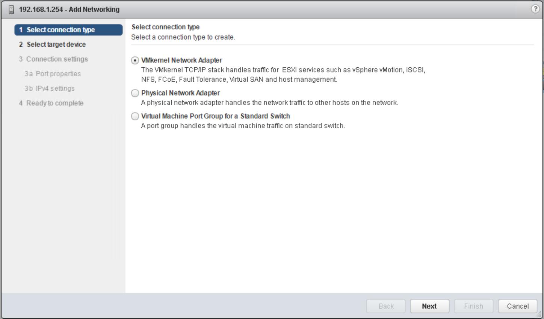 domalab.com vSphere Standard Switches vmkernel config