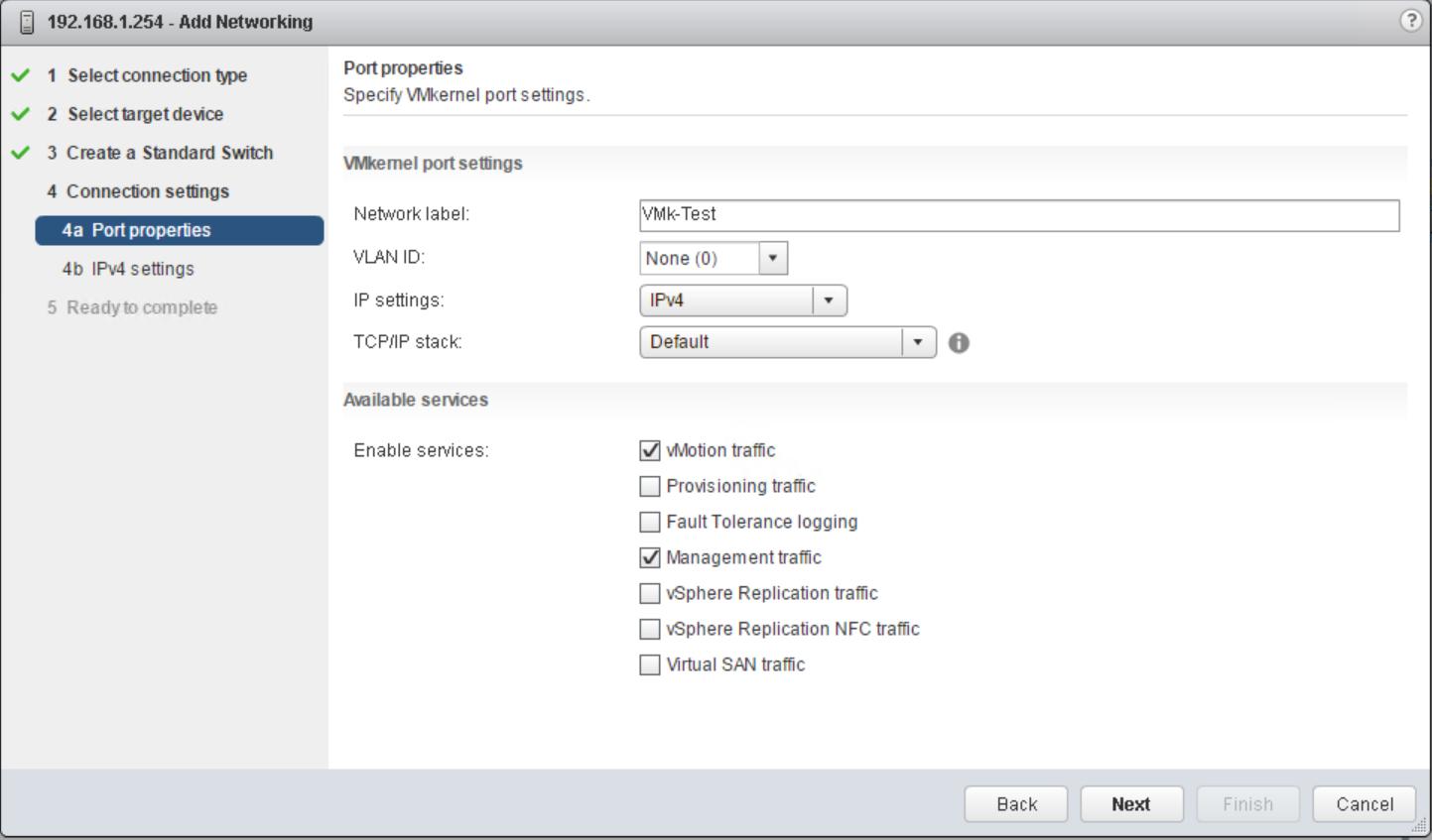 domalab.com vSphere Standard Switches port properties
