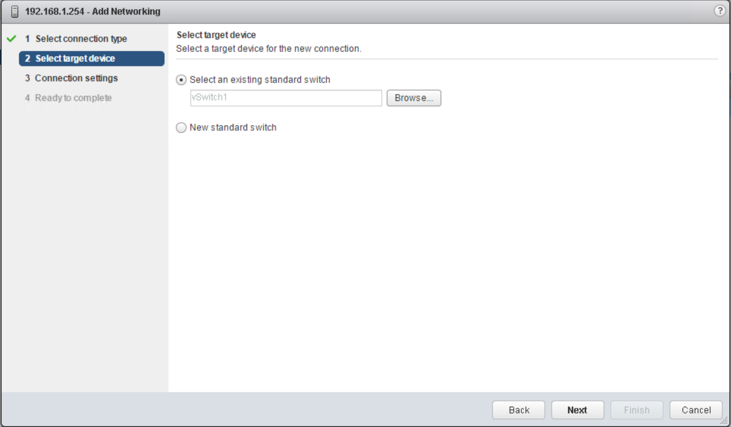 domalab.com vSphere Standard Switches select