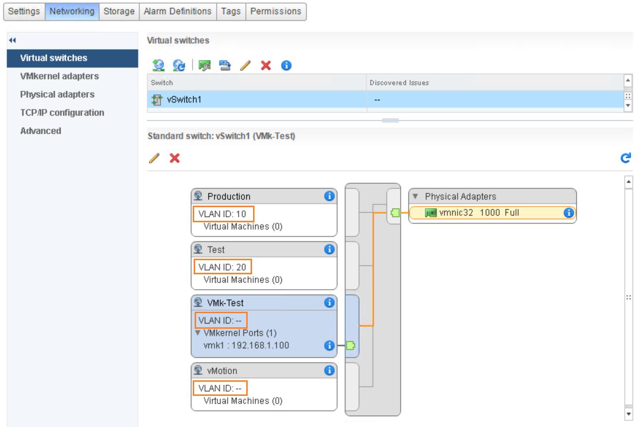 domalab.com vSphere Standard Switches Vlans settings