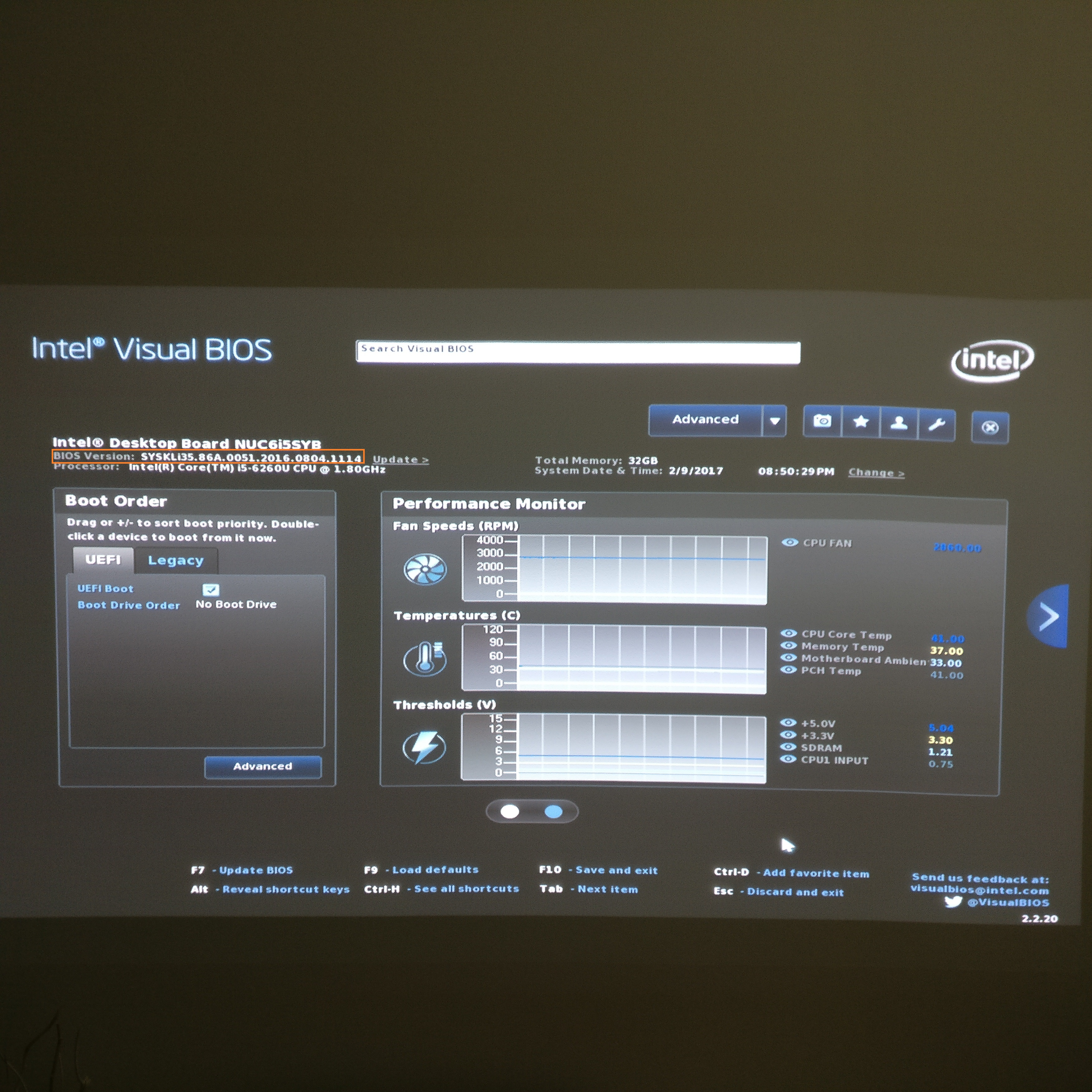 Intel NUC BIOS update to latest version » domalab