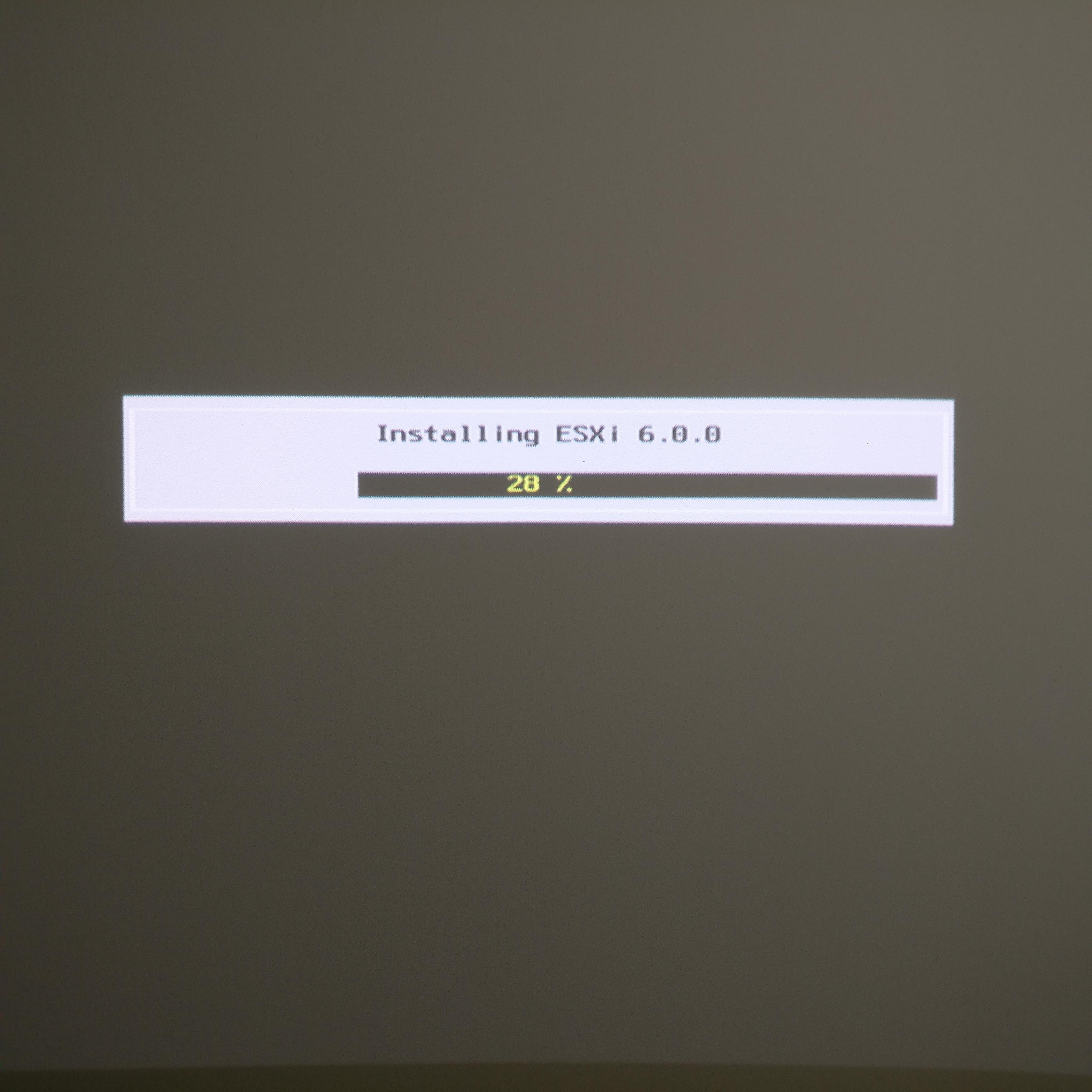 domalab.com Intel NUC ESXi Hypervisor install progress