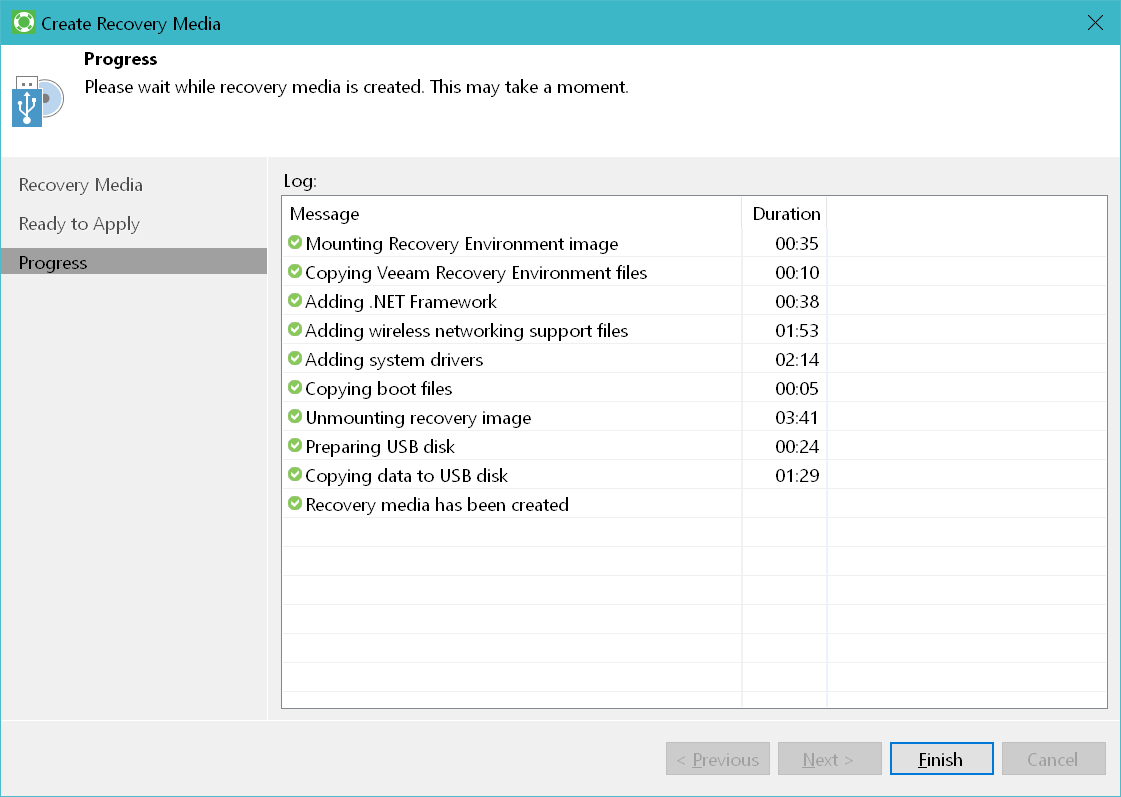 domalab.com Veeam Agents recovery media wizard