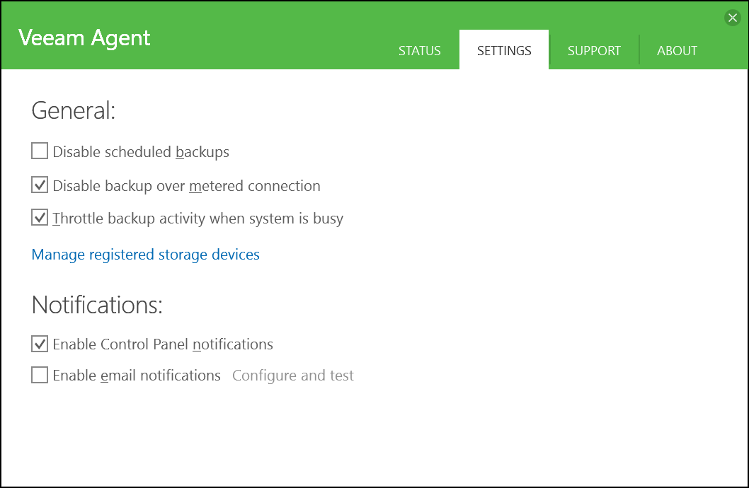domalab.com Veeam Agents settings