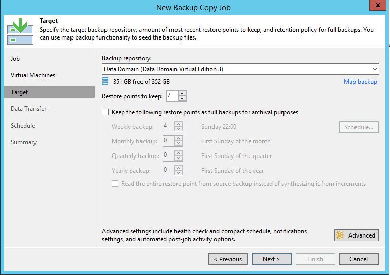 Veeam Backup Copy Job Repository