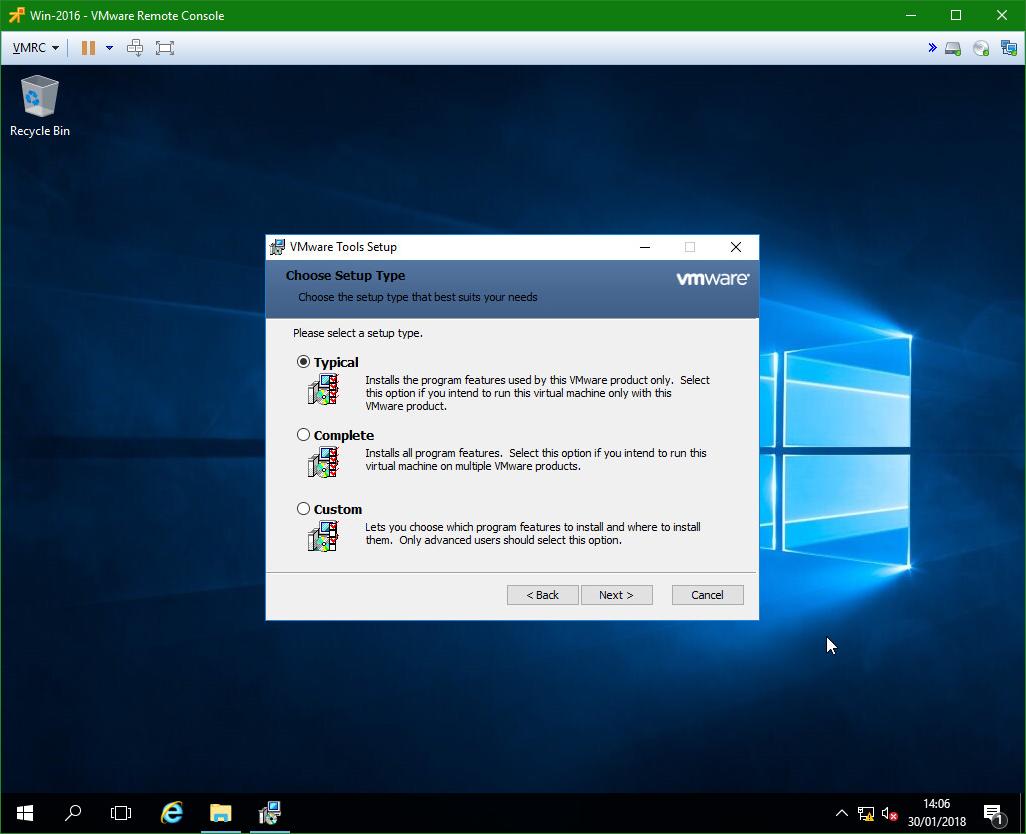 domalab.com Windows Server 2016 VMware Tools install