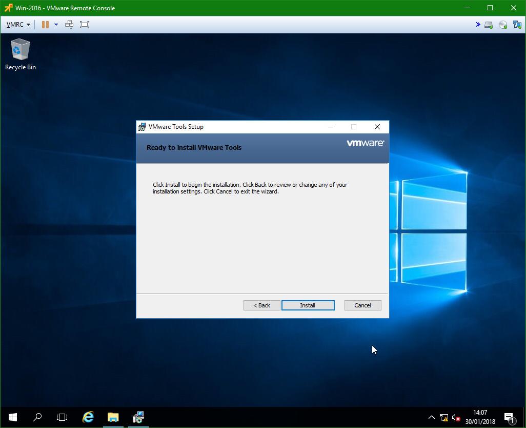 domalab.com Windows Server 2016 VMware Tools manual install