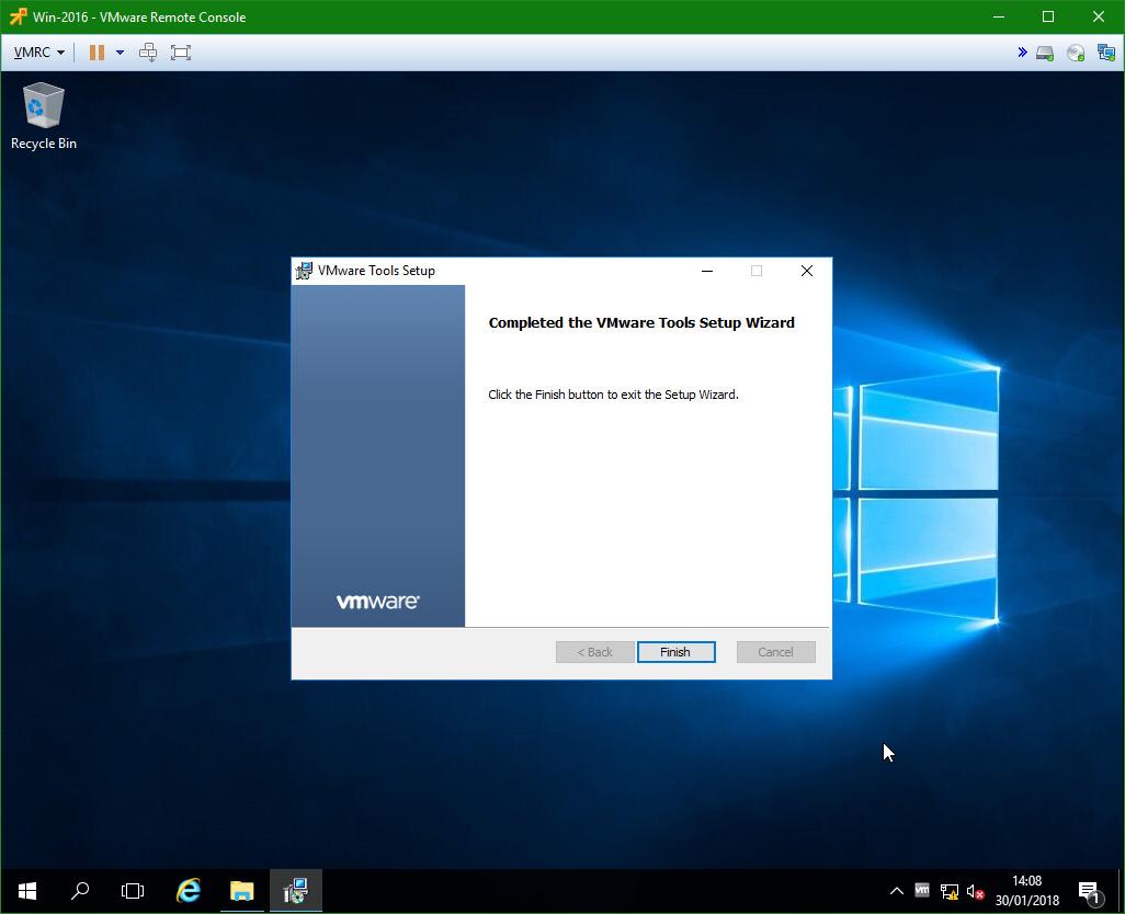 domalab.com Windows Server 2016 VMware Tools install successful