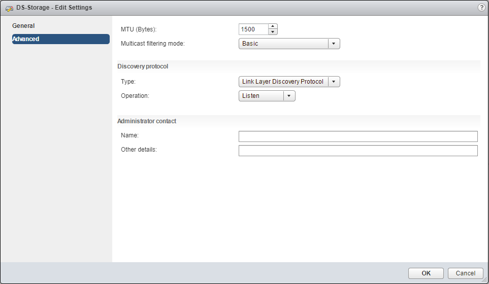 Migrate Storage distributed switch settings