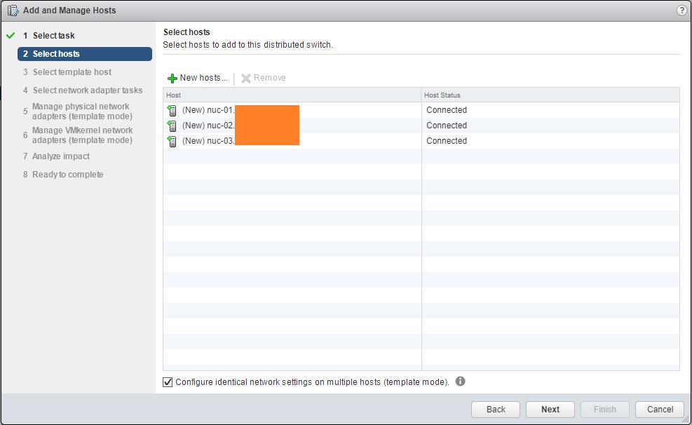 Migrate Storage manage Hosts