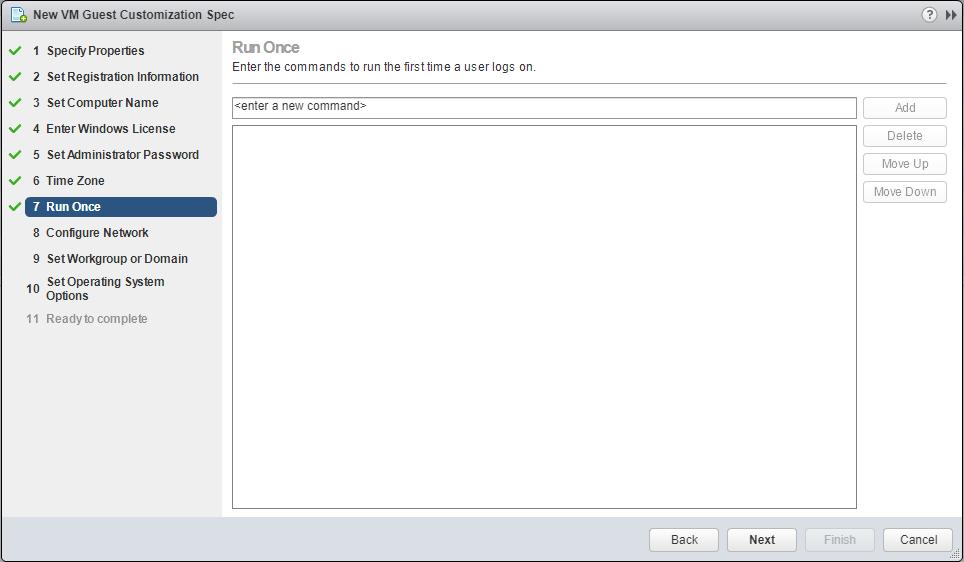 domalab.com VMware Custom Specification Run Once
