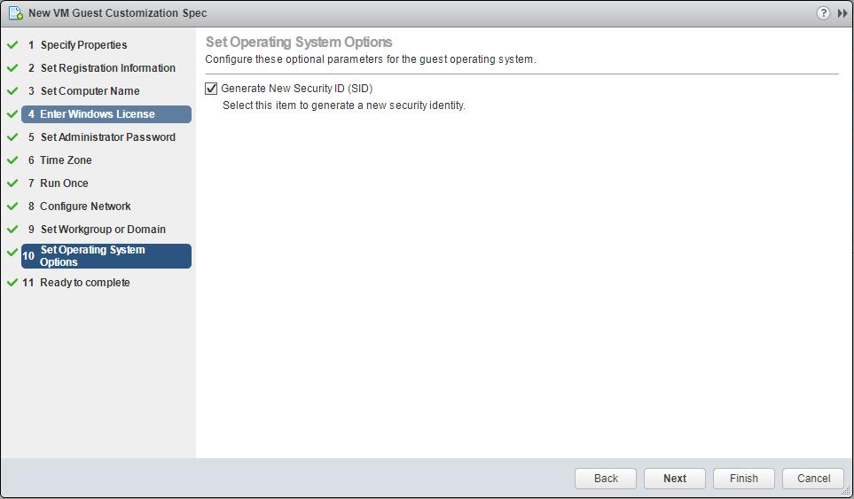 domalab.com VMware Custom Specification Generate SID