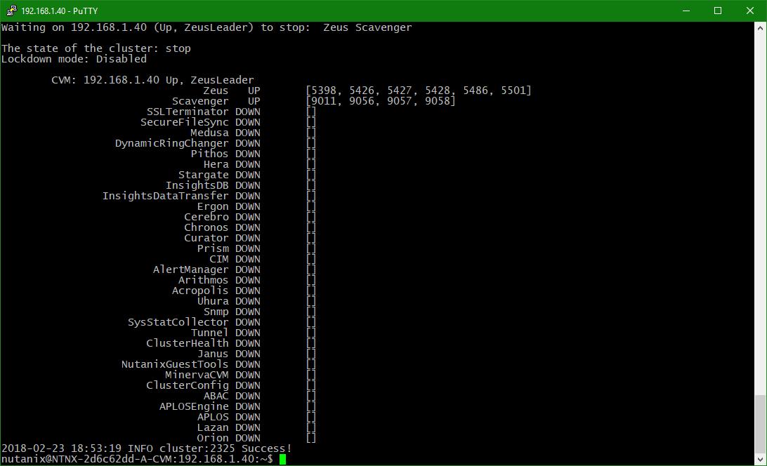 domalab.com configure Nutanix timezone cluster not running