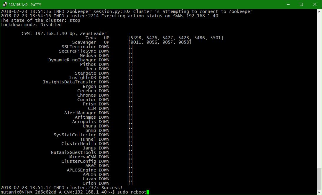 domalab.com configure Nutanix timezone cvm reboot