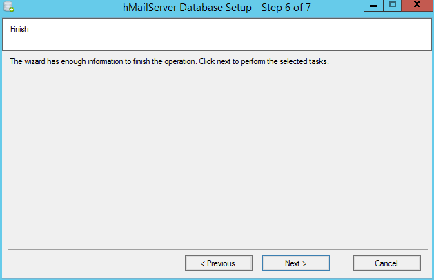 domalab.com install hMailServer database creation