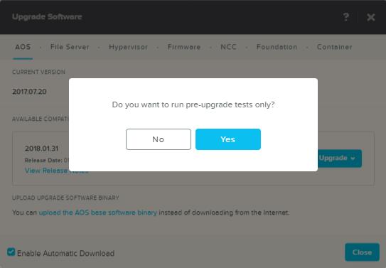 domalab.com Upgrade Nutanix run pre-upgrade