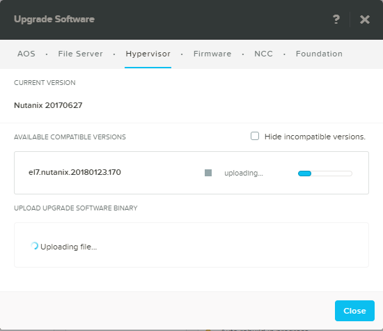 domalab.com Upgrade Nutanix AHV upload