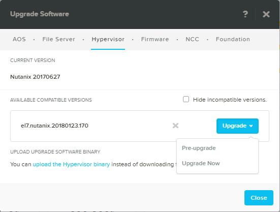 domalab.com Upgrade Nutanix AHV pre-upgrade