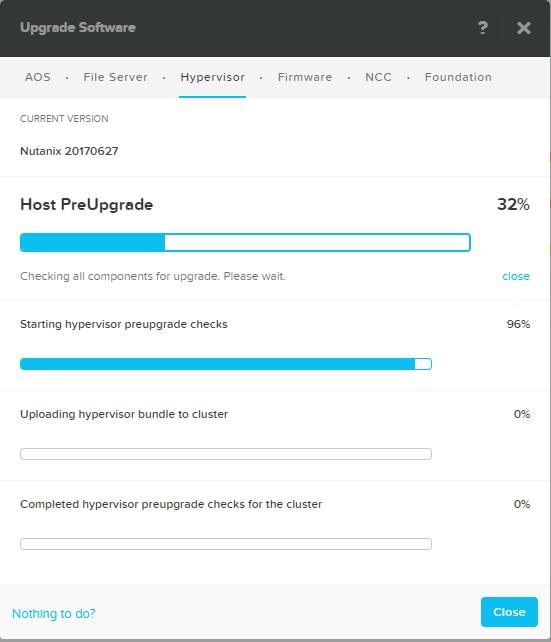 domalab.com Upgrade Nutanix AHV pre-upgrade status