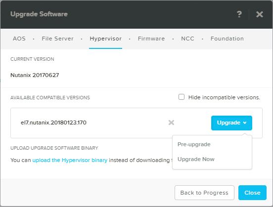 domalab.com Upgrade Nutanix AHV upgrade now