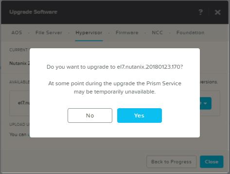 domalab.com Upgrade Nutanix AHV upgrade confirm