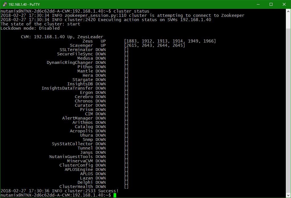 domalab.com Upgrade Nutanix cluster status