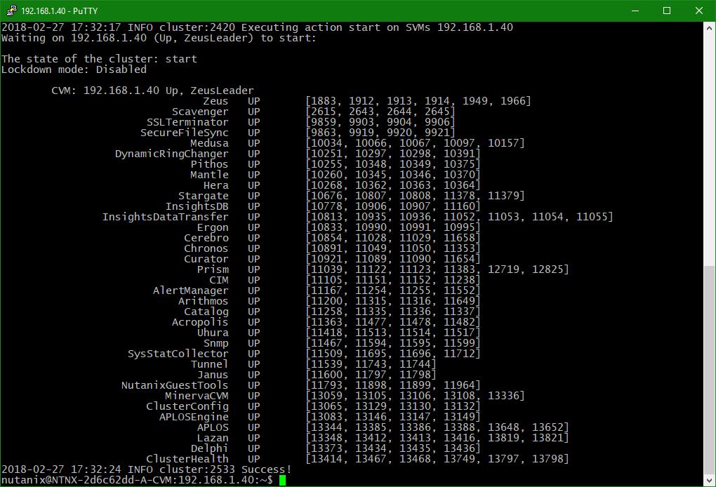 domalab.com Upgrade Nutanix cluster start